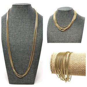 Jewelry - Sterling, gold overlay, extra long versatile chain